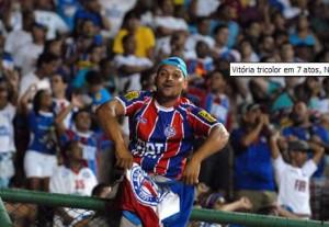 Torcedor feliz com o anúncio da parceria NINIBIN/Bahia