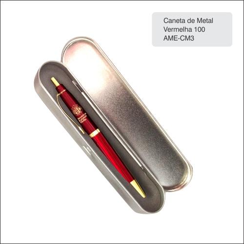 Clube America_Caneta Metal 100 Vermelha - AME-CM3