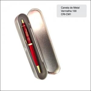 Clube Criciuma_Caneta metal 100 Vermelha - CRI-CM1