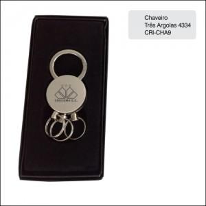 Clube Criciuma_Chaveiro três argolas 4334 - CRI-CHA9